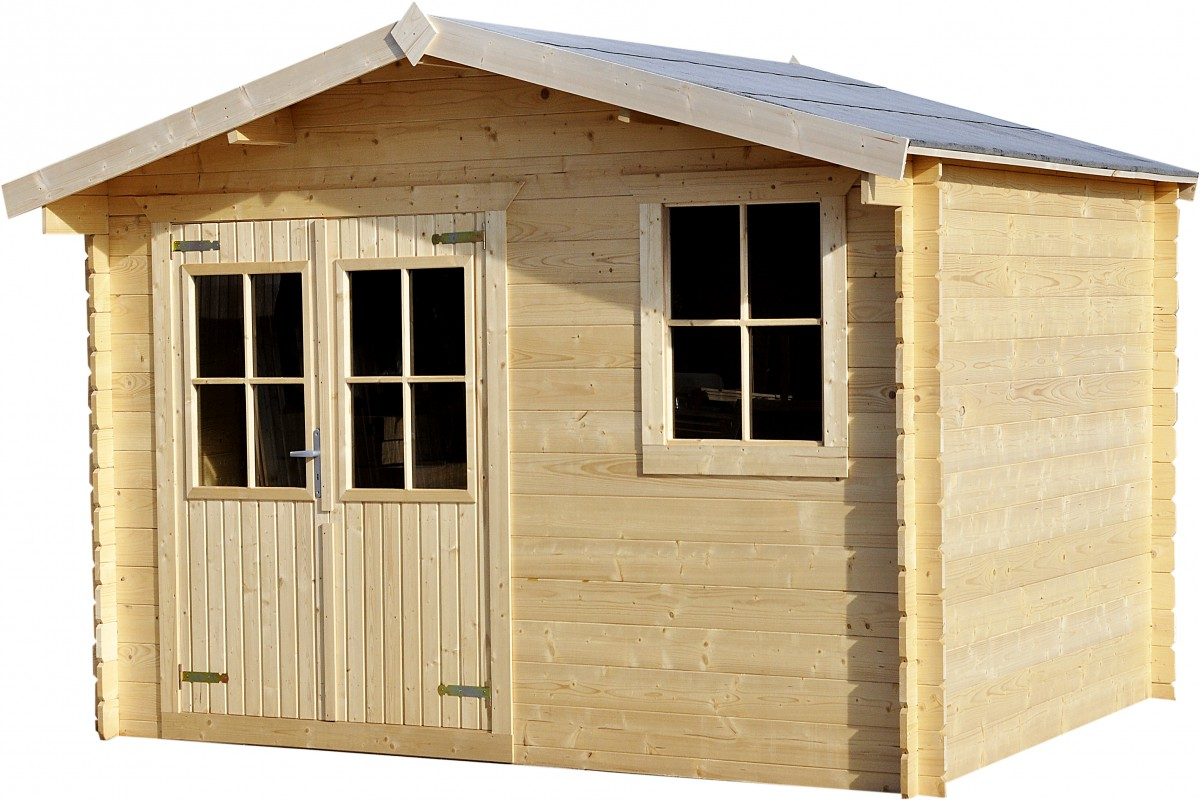 Log Cabin 13ft (3.88m) x 10ft (2.98m), 28mm T&G