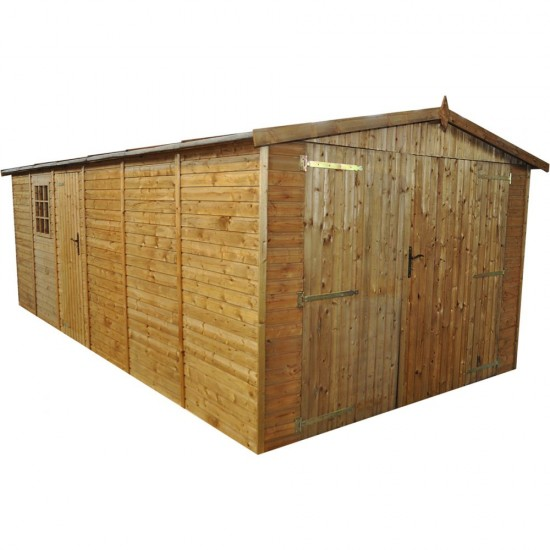 Wooden Garage 10ft(3.03)m x 20ft(5.9m)